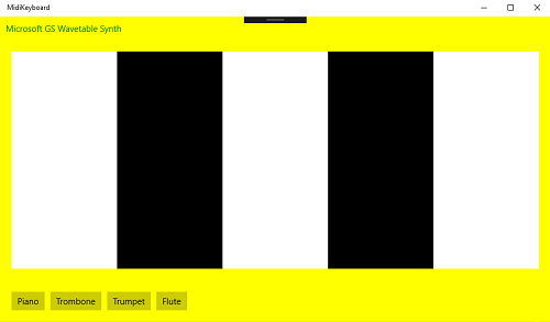 Simple software MIDI keyboard for UWP app - CodeProject