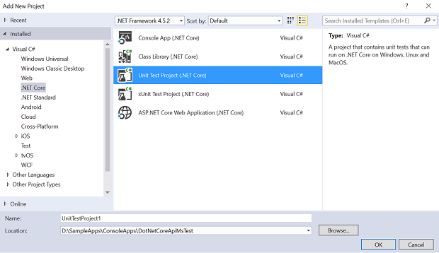 Using MS Test with  NET Core API - CodeProject