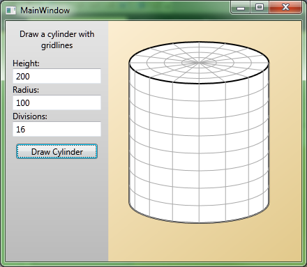 Drawing a Grid-Covered Cylinder in WPF - CodeProject
