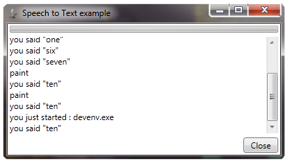 speech to text application