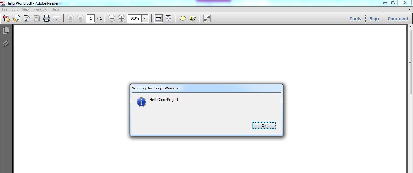 Javascript in PDF - CodeProject
