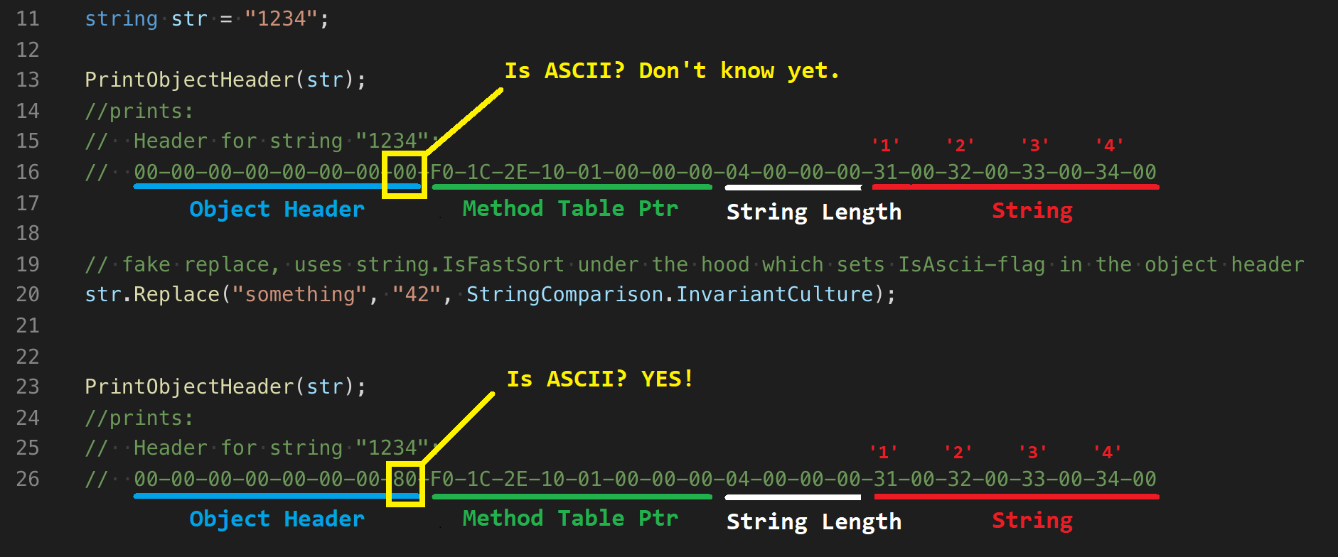 Is ASCII Flag in .NET String Allocation
