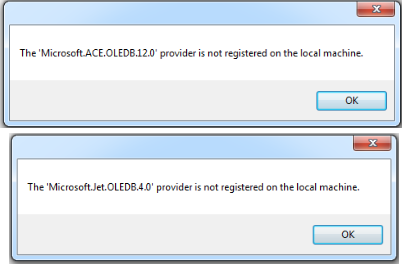 حل رسالة الخطأ OLEDB Provider is Not Registered on the Local Machine OLEDB_