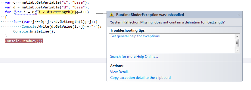 Using Matlab from a C# Application - CodeProject