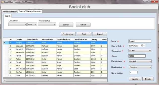 microsoft kb article template - social club sample application using winforms c net