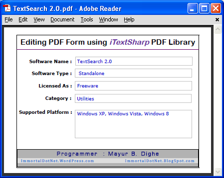 Filling PDF Form using iText PDF Library - CodeProject