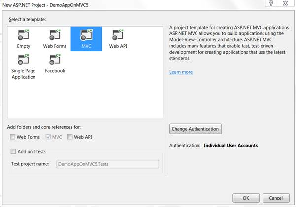 CRUD Operations Easy with New Scaffolding Feature of MVC 5 using