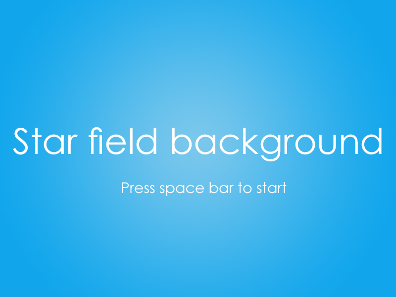 Building a Scrolling Sprite-based Star Field Background with