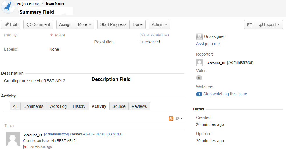 Creating a Issue in Jira using Rest Api - CodeProject