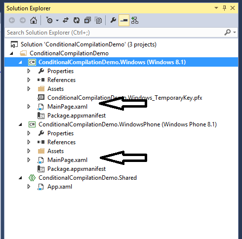 Conditional Compilation In Universal Apps Codeproject