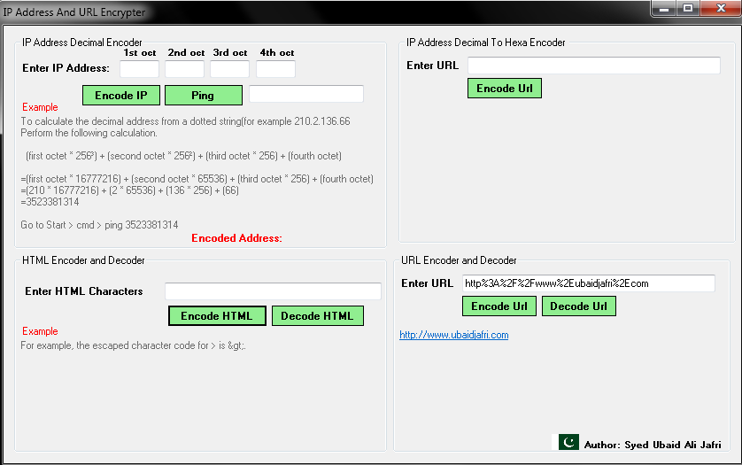 how to find ip address of url