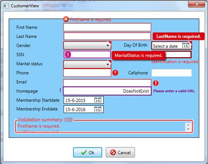 Validating user input wpf mvvm error