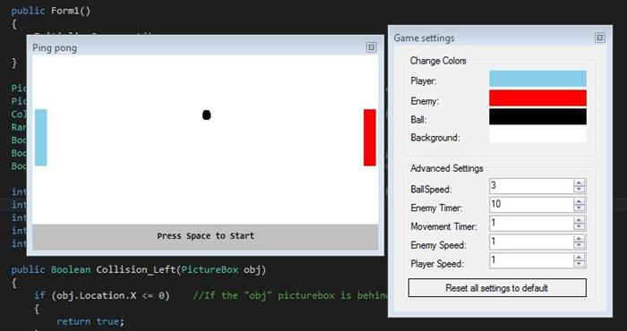 C# Simple Pingpong Game - CodeProject