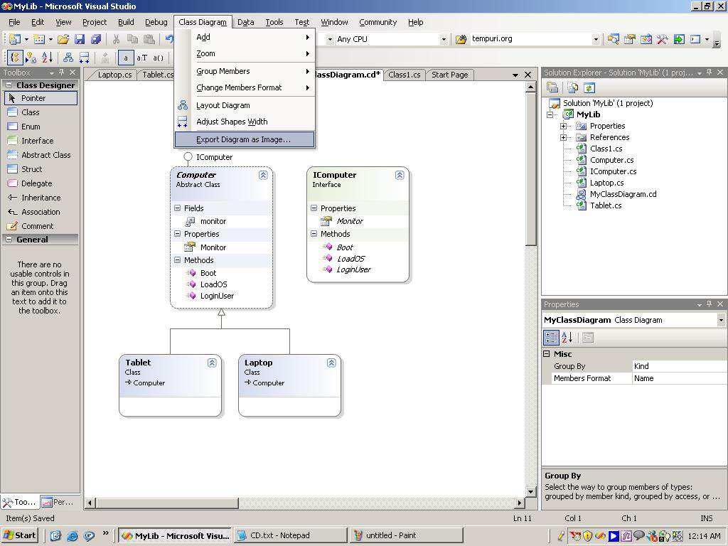Class diagram template visio diy wiring diagrams class diagram in vs net 2005 codeproject rh codeproject com class diagram example visio class diagram microsoft visio ccuart Choice Image