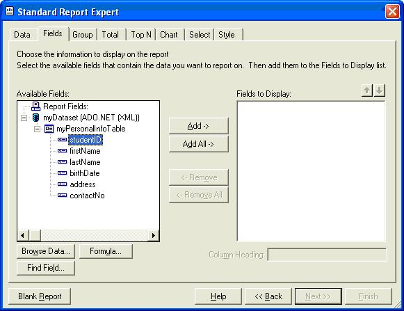 how to use in function in crystal report