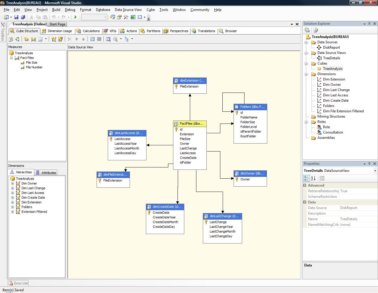 Implementing a treesize like application with c sql and for Table design sql