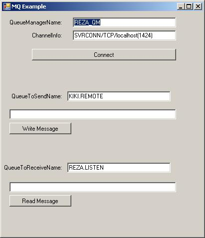 How to Setup a Websphere MQ with C#  NET: GUI to Put/Get to