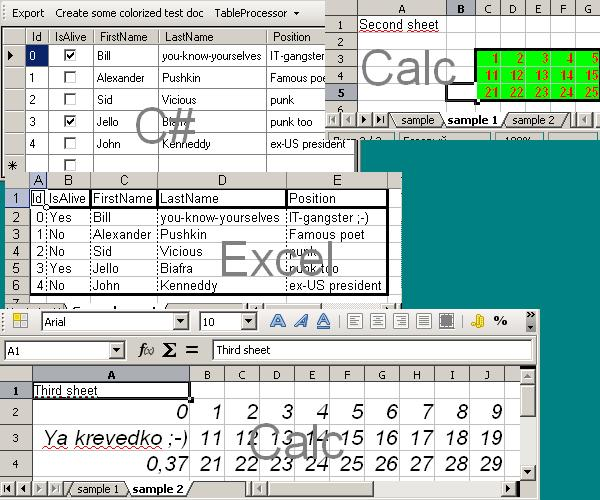 TblProc: OpenOffice Calc and Excel - CodeProject