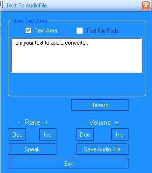 To Convert your Text or  txt File to Speech or AudioFile in