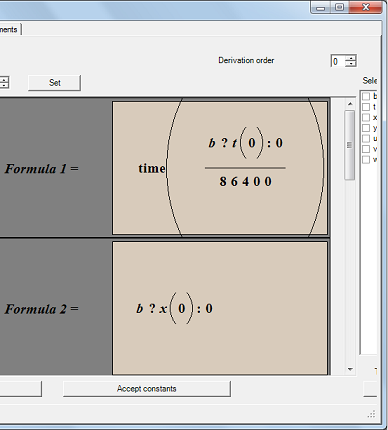 Output Formulae