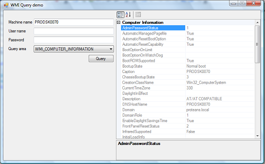Enumerate System Objects using WMI - CodeProject