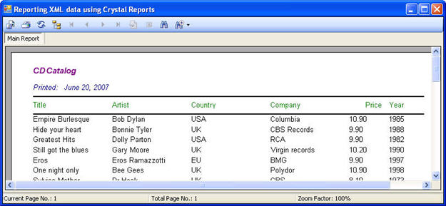 Reporting XML data using Crystal Reports - CodeProject