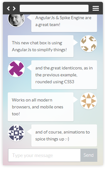 HTML5 Chat with AngularJs, Spike Engine and Twitter Bootstrap