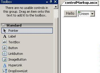 Control mark-up