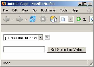 DDL with search