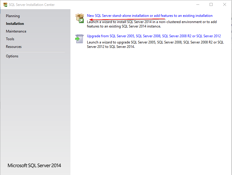 Installation of SQL Server Express 2014 on Windows 10 - CodeProject
