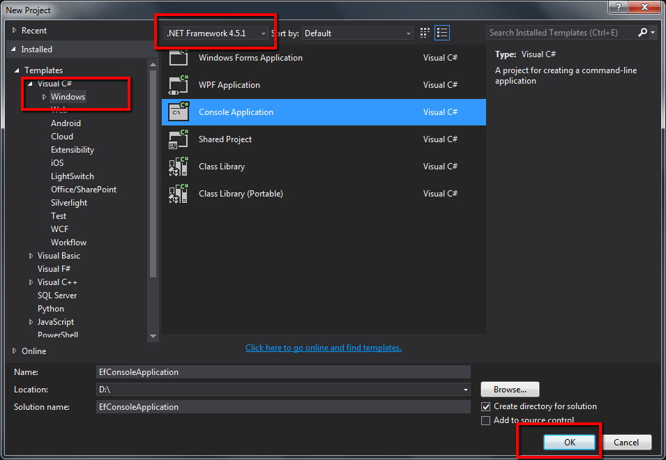 Very basic console application using entity framework codeproject create console application in visual studio ccuart Gallery