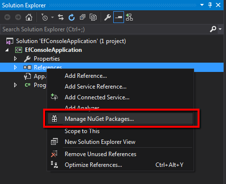 Manage Nuget Packages for Project