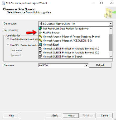 sql server insert into table from csv file