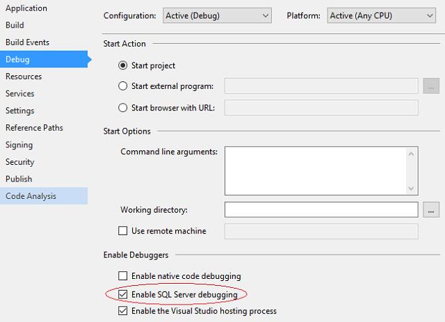 在 Visual Studio 和 SSMS 中调试存储过程 技术分享 第8张