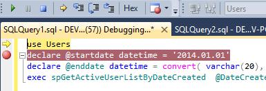 在 Visual Studio 和 SSMS 中调试存储过程 技术分享 第11张