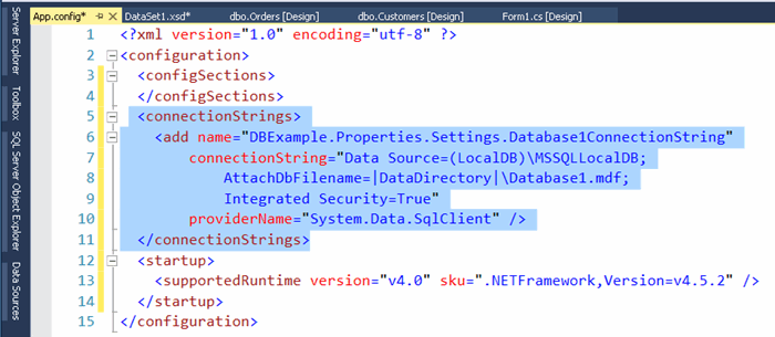 Walkthrough in detail : Create Dataset and Database with two