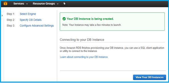 SQL Database in AWS