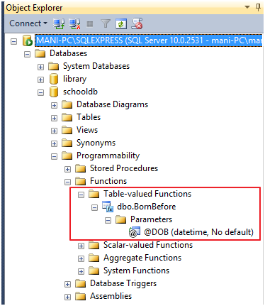 Table-Valued Functions in SQL Server - CodeProject