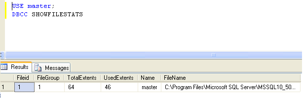 How to retrieve the file size used by all databases in SQL Server