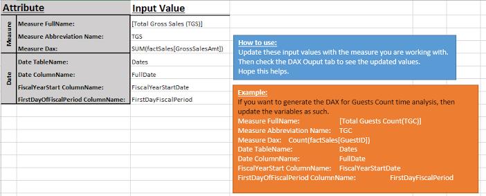 Intelligent Workbook for Generating Basic DAX Formulas used