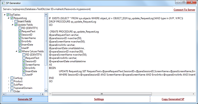 Stored Procedure Generator For SQL Server - CodeProject