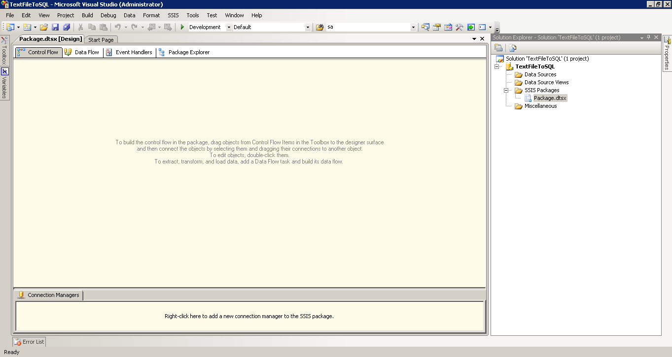 SSIS - Import Text File - CodeProject