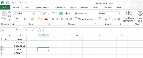 Import Data from Excel to SQL Using SSIS 2012 Dynamic Configuration