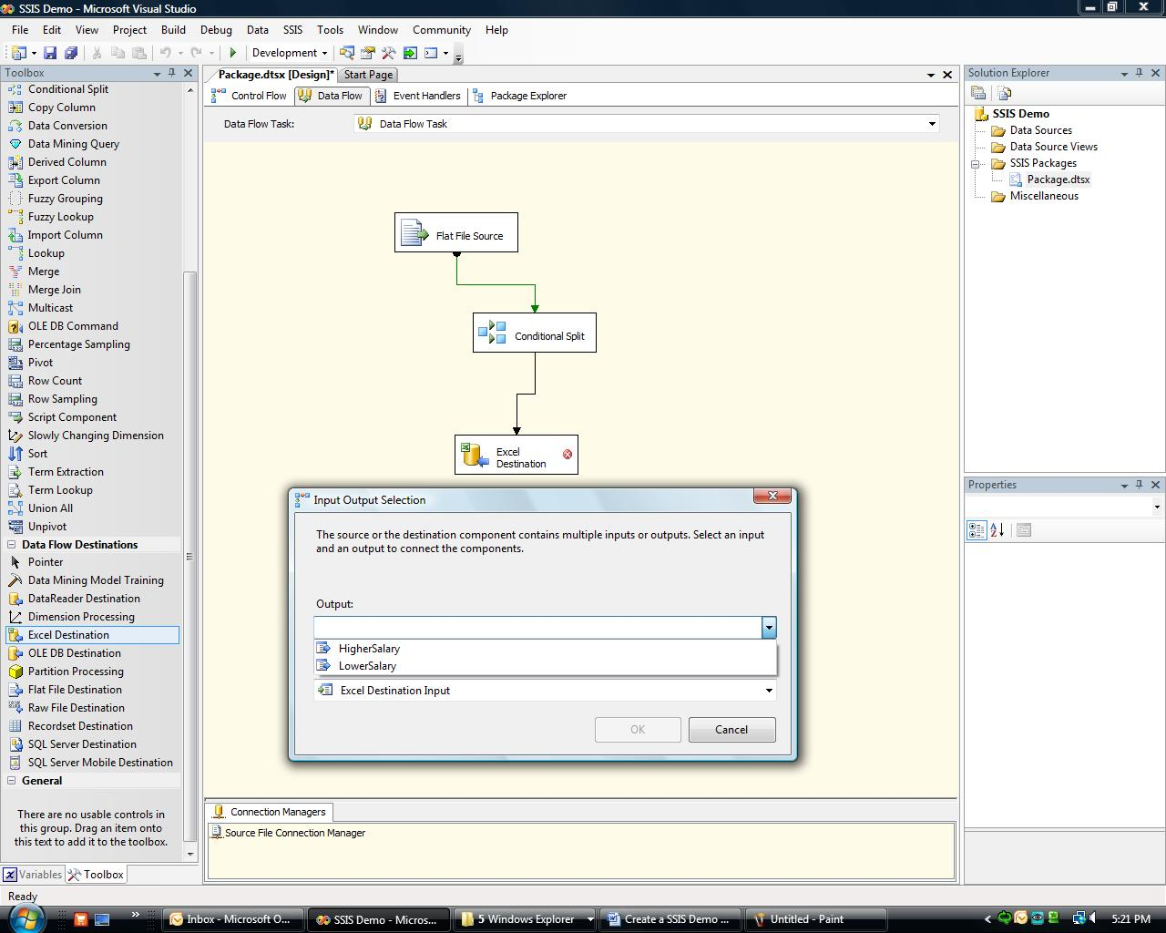 Steps to Create your First SSIS Package - CodeProject