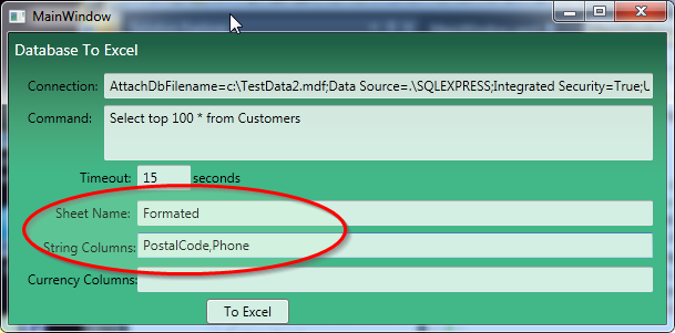 customer database format in excel