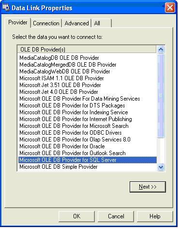 Database Development using Visual C++ and OLE DB