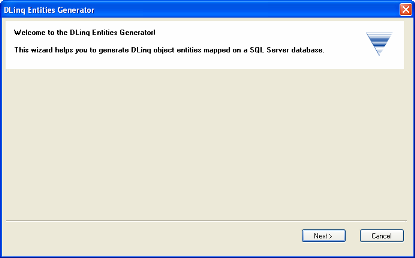 DLinq Entities generator add-in application