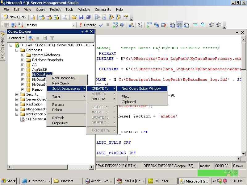how to create batch in sql