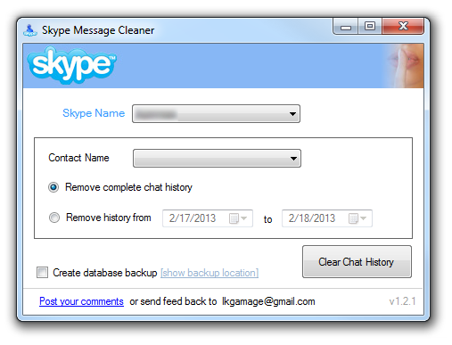 how to permanently delete a contact on skype