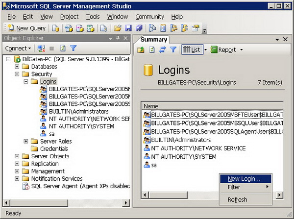 Working with sql server logins codeproject - How to find a table in sql server management studio ...